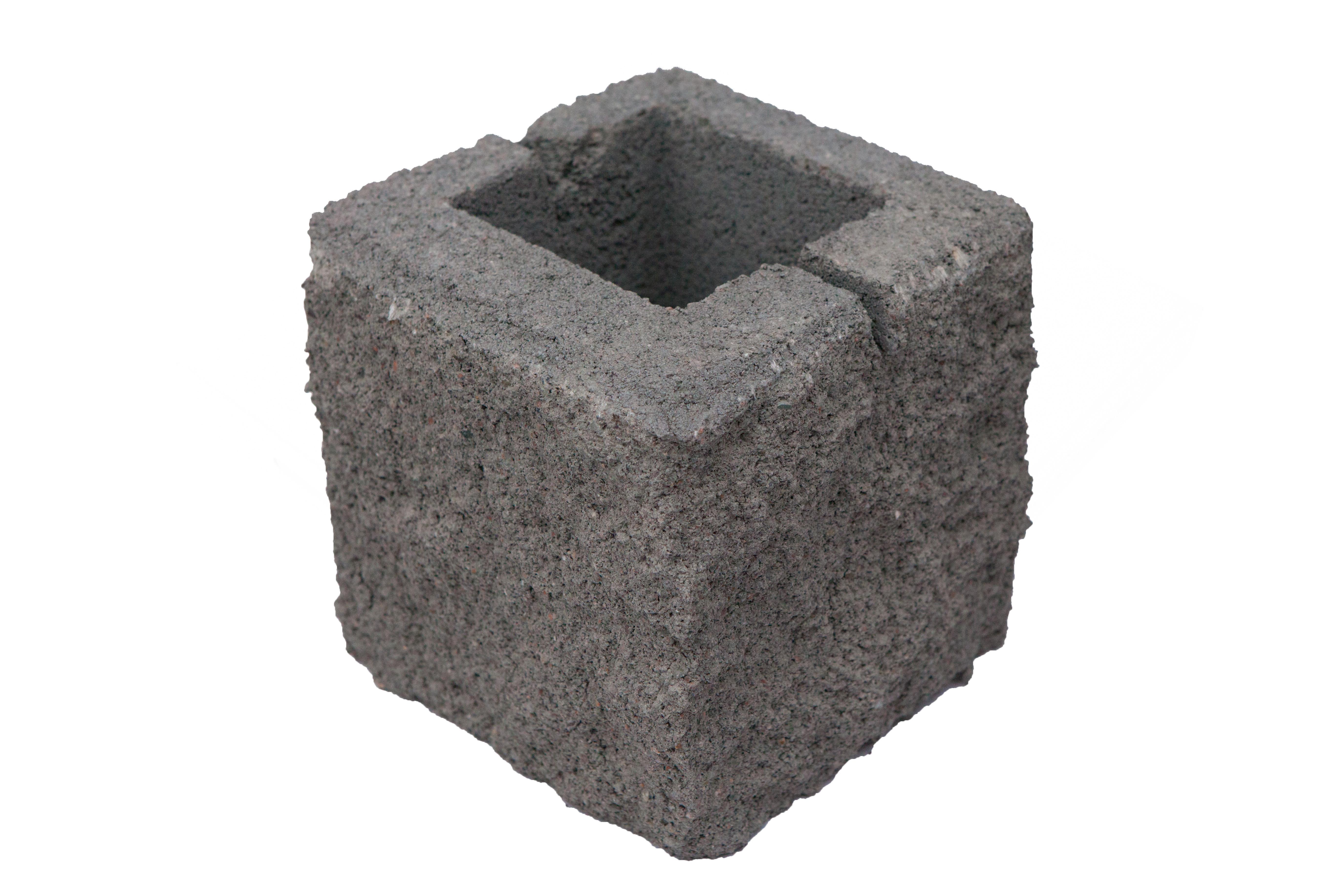Блок сплитерный рванный 1/2 угловой